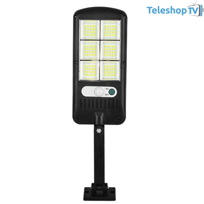 Lampa solara cu 120 de LED-uri, panou solar, senzor de miscare si lumina, LED-120