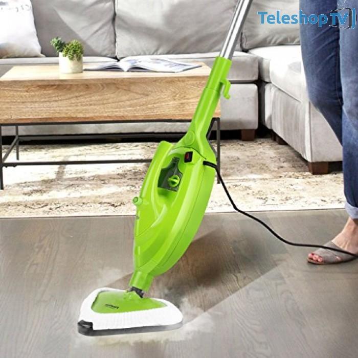 Mop cu aburi pentru curatat si dezinfectat 10 in 1 multifunctional conceput cu tehnologia jetului continuu de aer
