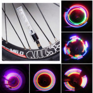 Set 2 Lampi Bicicleta 5 Led Multicolore Lichidare Stoc