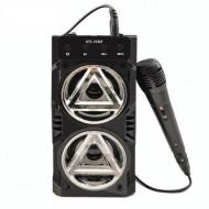 Boxa portabila bluetooth KTS, Karaoke, Aux , Suport Card + Cadou Microfon cu fir