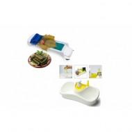 Suport de bucatarie pentru bureti cu dozator de sapun lichid, cu loc pentru inele + Cadou: Aparat Sarmale