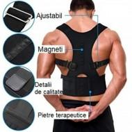 2 x Corector postura spate Real Doctors, cu magneti, centura spate, centura corectoare, ham spate negru