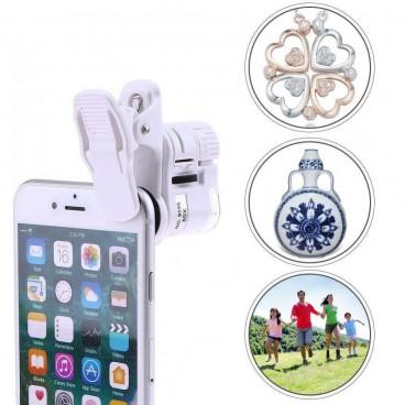 Microscop pentru telefon cu prindere clips