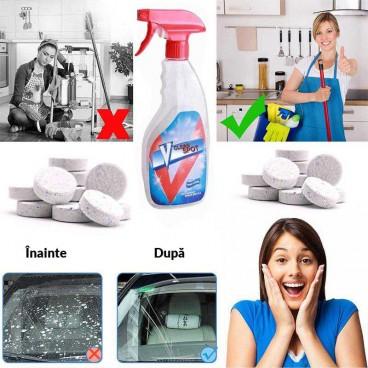 Pulverizator tip spray de curatare multifuncțional cu solutie activa efervescent