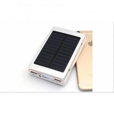 Baterie externa, 20000 mAh, Incarcare Solara, Lanterna LED