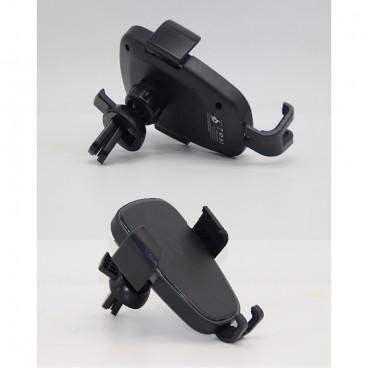 Suport prindere ventilatie auto pentru telefon cu incarcare fara fir